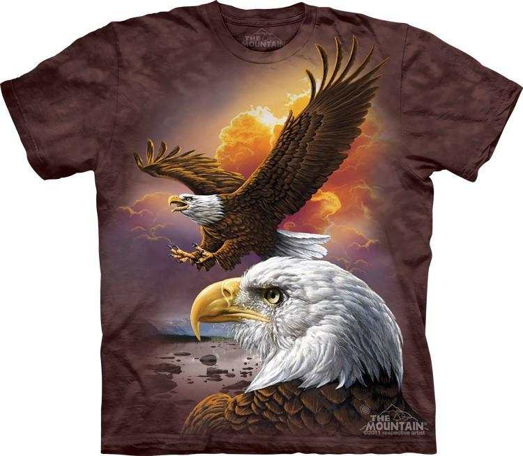 Футболка Mountain с изображением орла в облаках - Eagle & Clouds