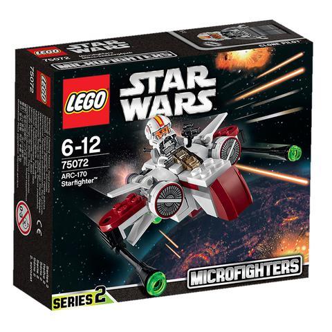 LEGO Star Wars: Звёздный истребитель ARC-170 75072 — ARC-170 Starfighter microfighter — Лего Звездные войны Стар Ворз