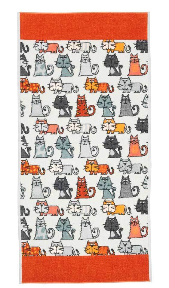 Полотенца Полотенце 75x150 Feiler Cats 167 zimt elitnoe-polotentse-shenillovoe-cats-167-zimt-ot-feiler-germaniya.jpg