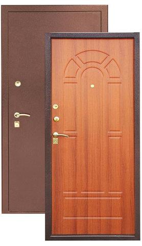 Сейф-дверь Зевс Z-4, 2 замка, 1,5 мм  металл (медь+итальянский орех)