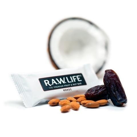 Батончик натуральный R.A.W. LIFE White Кокос