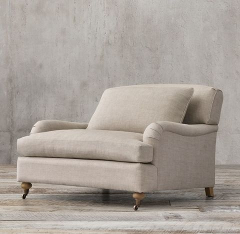 Belgian Classic Roll Arm Chair-and-a-Half