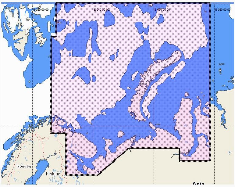 КАРТА ГЛУБИН C-MAP MAX-N RS-N202 Белое и Баренцево моря, Новая Земля