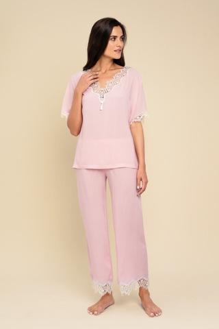 LAETE Женская пижама из  вискозы с кружевом 61343-1