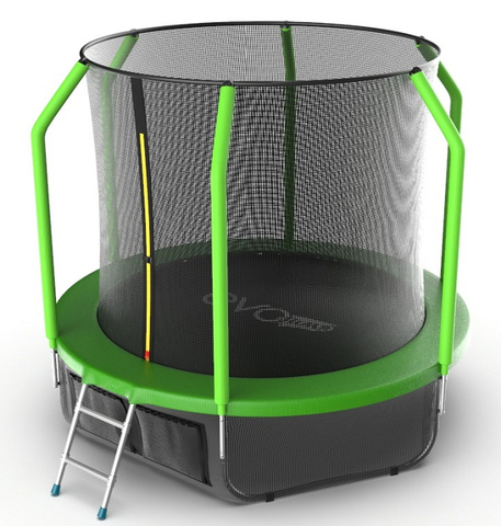 Батут EVO JUMP Cosmo 8ft (Green)+нижняя сеть