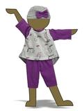 Трикотажный костюм с туникой - Демонстрационный образец. Одежда для кукол, пупсов и мягких игрушек.