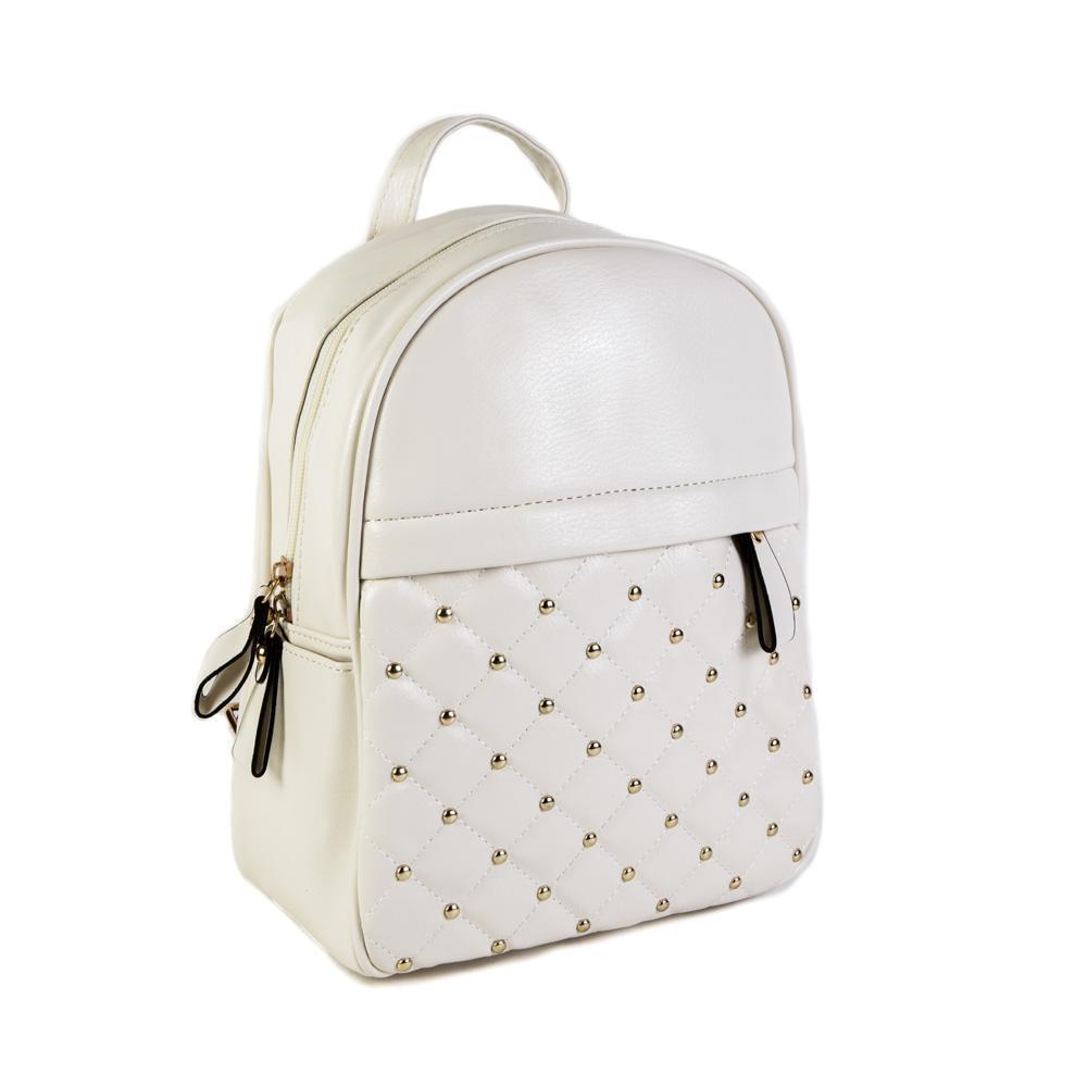 Женский средний рюкзак 23х28,5х12 см белый 4798-3