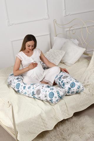 Подушка для беременных U360 (полистирол + лебяжий пух) 10090 карамель