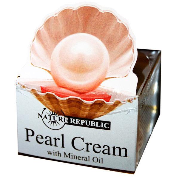 Крем для лица с экстрактом жемчуга и минеральными маслами Pearl Ream Nature Republic 50 мл