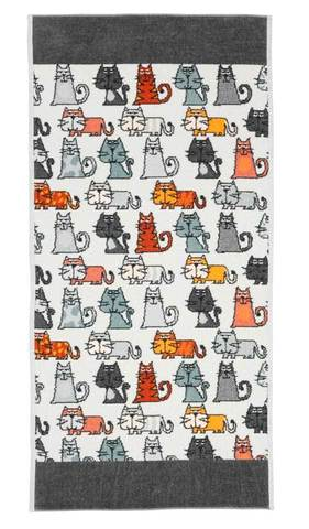 Полотенце 50x100 Feiler Cats 215 schiefer