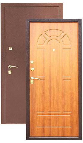 Дверь входная Зевс Z-4, 2 замка, 1,5 мм  металл, (медь+миланский орех)