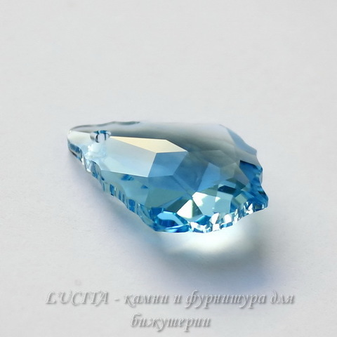 6090 Подвеска Сваровски Baroque Aquamarine (22х15 мм)