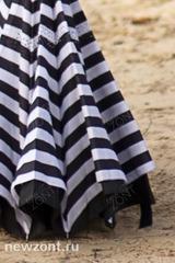 Антизонт umbrella черно-белая полоска механический