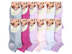 BE8604 носки женские 36-41, (12шт) цветные