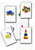 """""""Мои игрушки, 4 карточки"""", развивающие игры на липучках Френчопончо , для самых маленьких"""