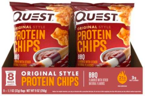 Quest Nutrition Protein Chips BBQ, 32гр (8шт) Протеиновые Чипсы Барбекю