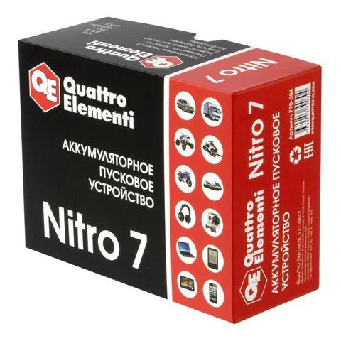 Пусковое устройство QUATTRO ELEMENTI Nitro  7  (12В, 7500 мАч, 400А,  USB, LCD -  фонарь)