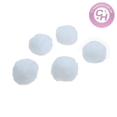 Помпоны белые, 4,5 см, 1 шт.
