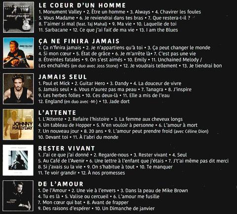 Johnny Hallyday Les Albums Studio Warner купить на аудио