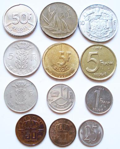 Монеты Бельгии (нидерланд. яз.)