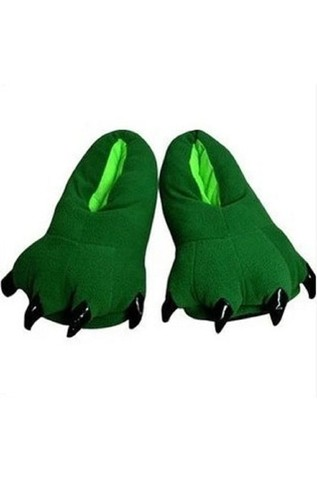 Тапки кигуруми зеленые