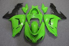 Комплект пластика для мотоцикла Kawasaki ZX-10R 06-07 Зелено-Черный