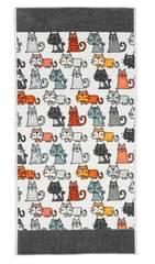 Полотенце 75x150 Feiler Cats 215 schiefer