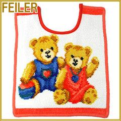 Слюнявчик Feiler Teddy Kids персиковый