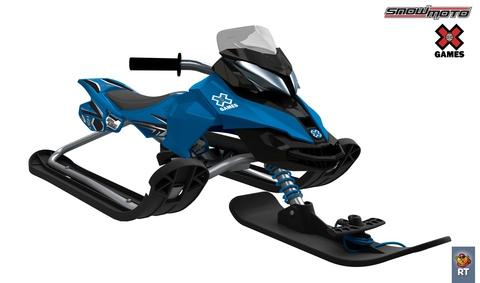 Снегокат Snow Moto X Games MXZ-X (синий)