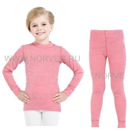 Термобелье комплект из шерсти мериноса Norveg Soft  детский Red