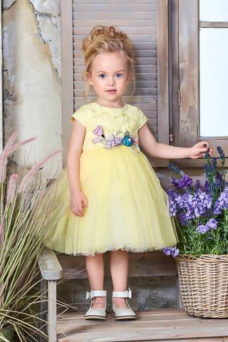 Пышное лимонное платье (арт.04.14)