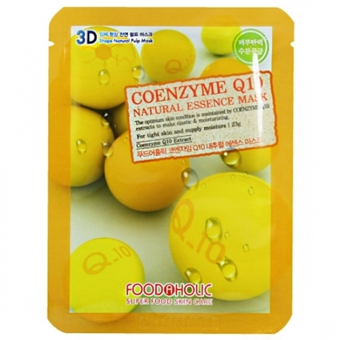 FoodaHolic 3D Маска с коэнзимом Q10 (ткан.) 23г