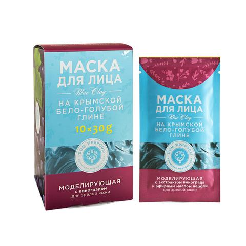 МДП Маска МОДЕЛИРУЮЩАЯ для зрелой кожи на основе Крымской бело-голубой глины (саше пакет 30г)