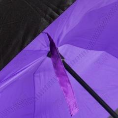 Обратный зонт фиолетовый механический