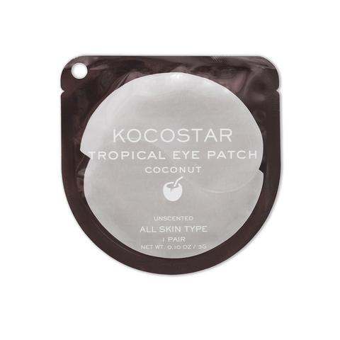 KOCOSTAR | Гидрогелевые патчи для глаз Тропические фрукты (2 патча/1 пара) (Кокос), (3 г)