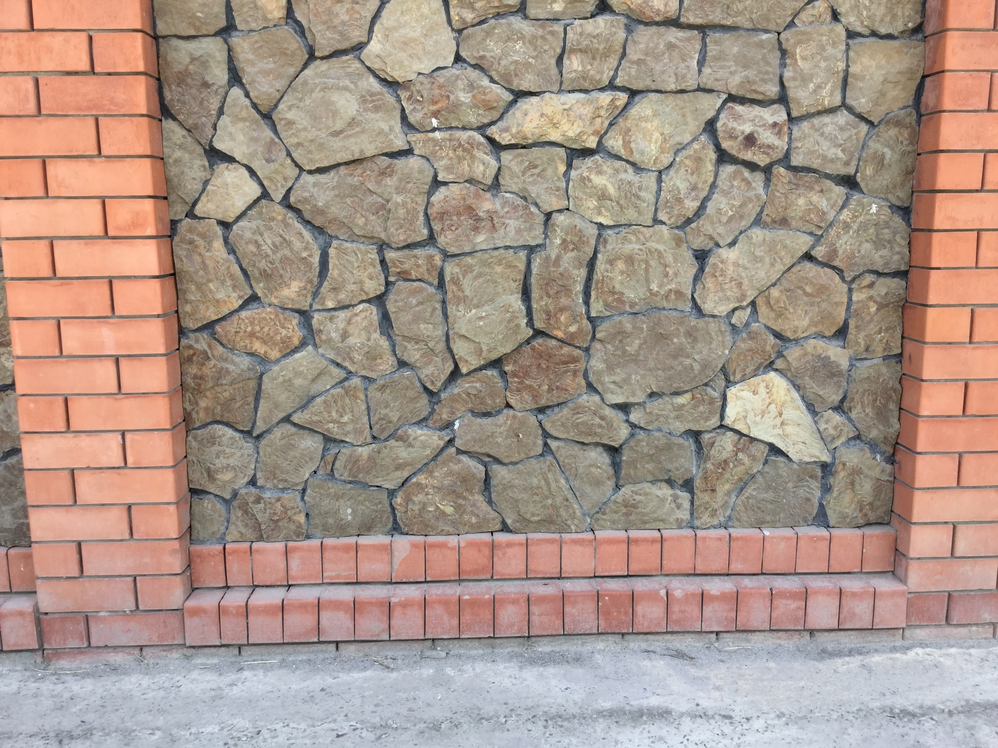 Облицовка забора Песчаник плитняк Дракон