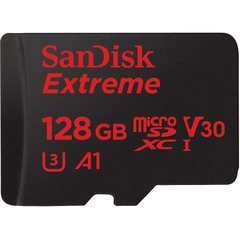 MicroSDXC 128GB SanDisk UHS-I A1 Extreme for Action Cameras (SD адаптер)
