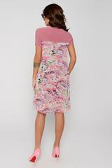 """Превосходная модель: платье-двойка. Основное платье трикотажное, по линии груди притачной шифон """"имитация туники"""". Модель очень выгодно скрывает все изъяны фигуры. В этом платье Вы будете выглядеть просто роскошно!!! Длина по спинке: 48р.=94см; 50р.=96см; 52р=98см; 54р.=101см;"""