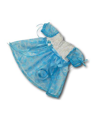 Платье из парчи и гипюра - Бирюзовый. Одежда для кукол, пупсов и мягких игрушек.