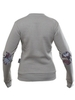 "Grey women's sweatshirt ""Rejuvenating apples"""