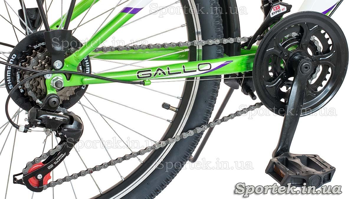 Трансмиссия городского женского подросткового велосипеда Формула Галло