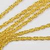 Цепь крученая (цвет - золото) 4х3 мм, примерно 2 м