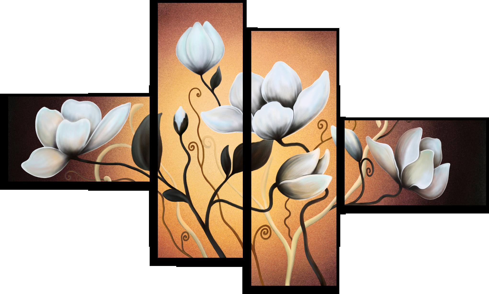 "Цветы Модульная картина ""Изысканный цветок"" М8.png"