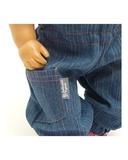 Полукомбинезон из джинсовой ткани - Детали. Одежда для кукол, пупсов и мягких игрушек.
