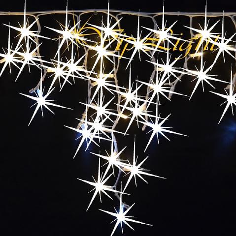 Гирлянда фасадная бахрома полное мерцание каждого светодиода каждой лампы LED каучуковый провод