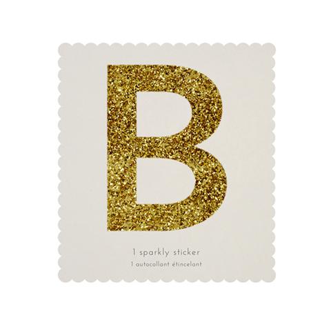 Стикер B, мерцающее золото