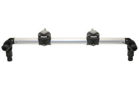 Тарга с двумя замками Gr610-2FMr232, 610 мм, черная