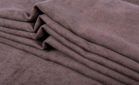 Штора готовая однотонная из портьерной ткани   цвет: розовато-лиловый   размер на выбор