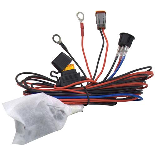 Комплект проводов с разъёмом, кнопкой, реле, предохранителем для фар 40 - 100 светодиодов ALO-AW4