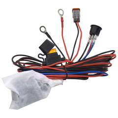 Комплект проводов с разъёмом, кнопкой, реле, предохранителем для фар 40 - 100 светодиодов